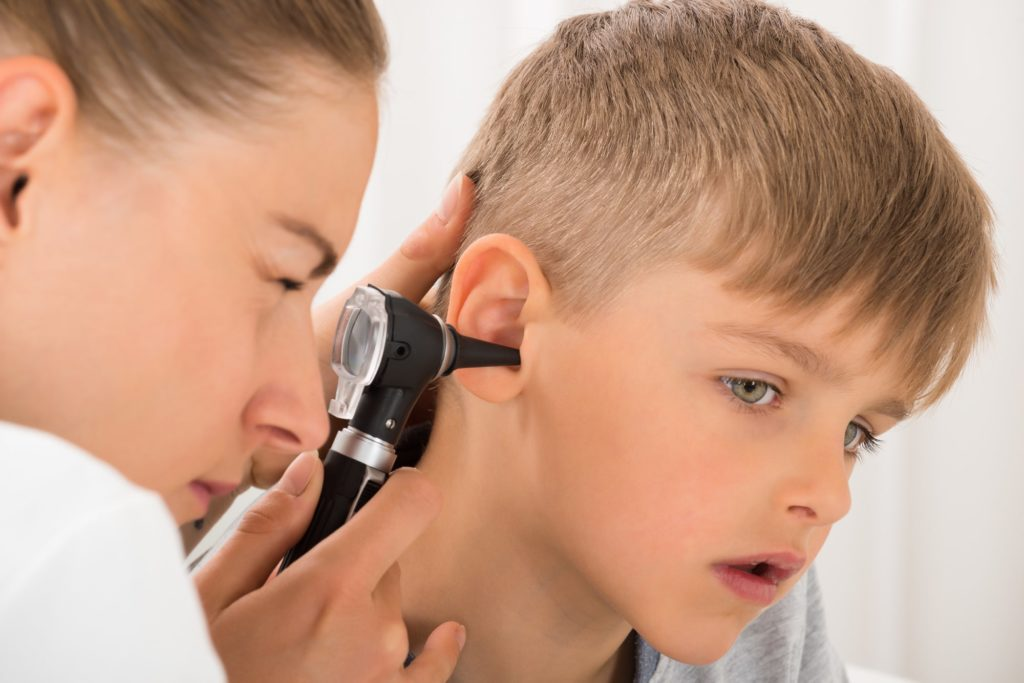 The complications of the ear infection.